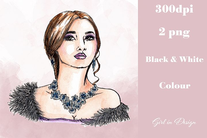 Necklace Girl Jewellery Party New Year Clipart