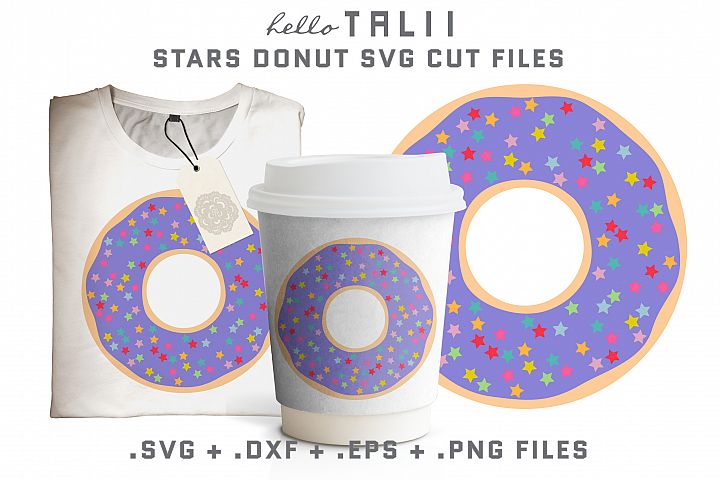 Stars Donut SVG Cut files