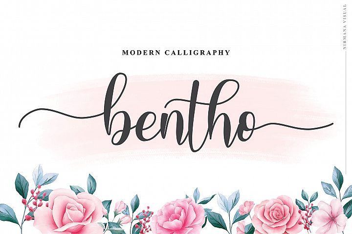 Bento - Script Font