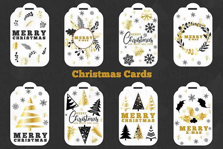 White Christmas Cards, Merry Christmas printable labels