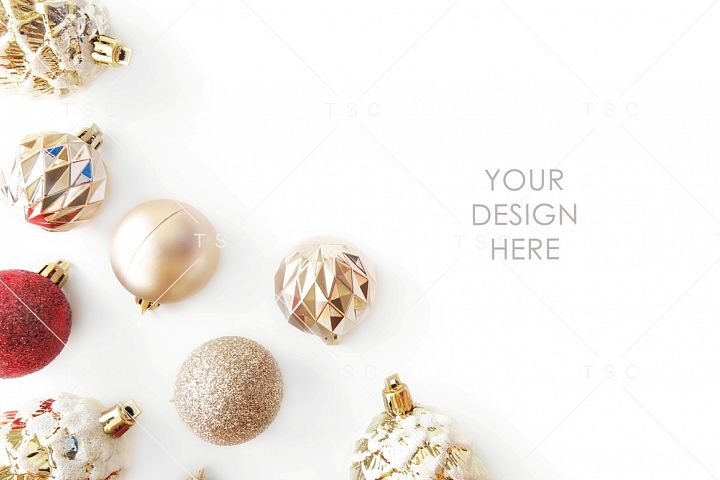 Red and Gold Christmas Stock Photo