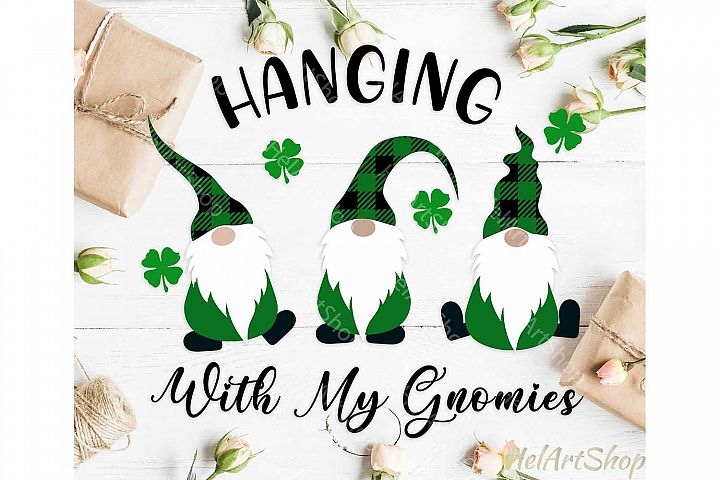 St Patricks day gnome svg, gnome svg, Scandinavian gnome
