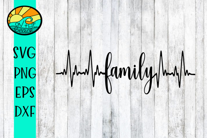 FAMILY - HEARTBEAT - SVG PNG DXF EPS