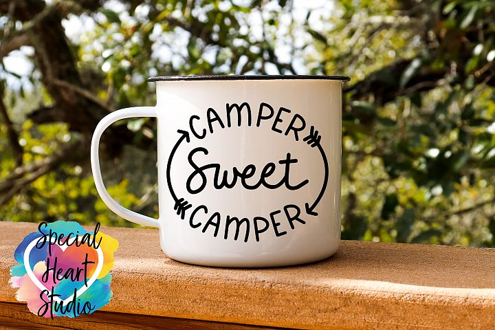 Camper Sweet Camper - A hand lettered camping SVG