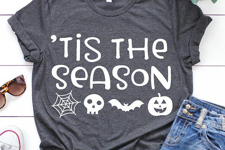 Tis the Season Halloween SVG, DXF, PNG, EPS