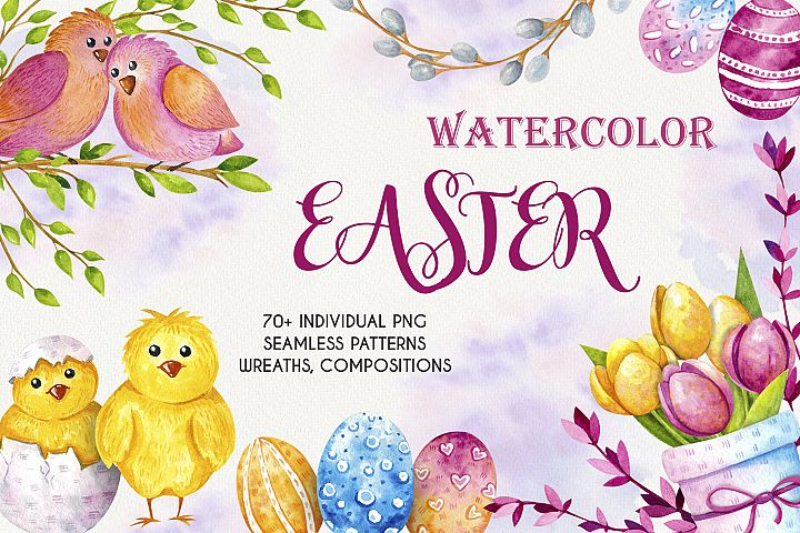 Watercolor Easter - Clipart