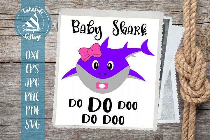 Baby Girl Shark Do do Doo - Shark Week Party - New Baby gift