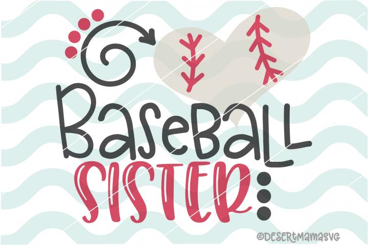 Baseball Sister SVG