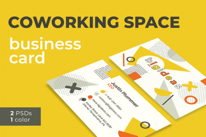 Coworking Space Business Card