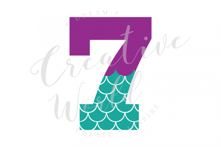 My 7th Birthday Mermaid SVG | Mermaid Birthday Girl svg