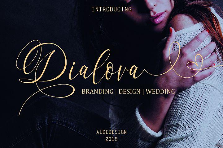 Dialova - Beautiful Calligraphy - Free Font of The Week