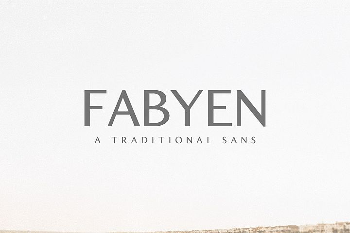 Fabyen A Traditional Sans Font Pack