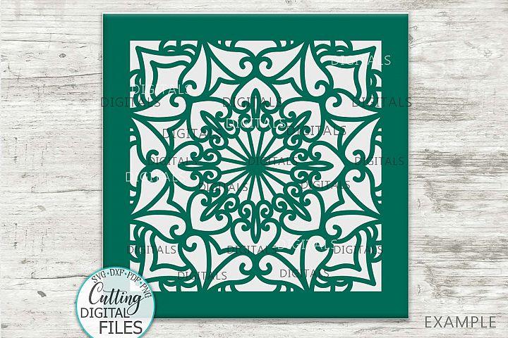 Square floor tile glass block design vinyl svg cutting file