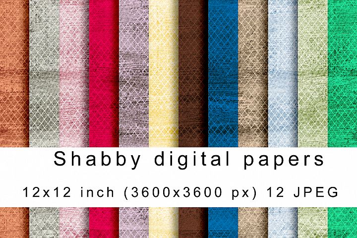 Shabby digital papers