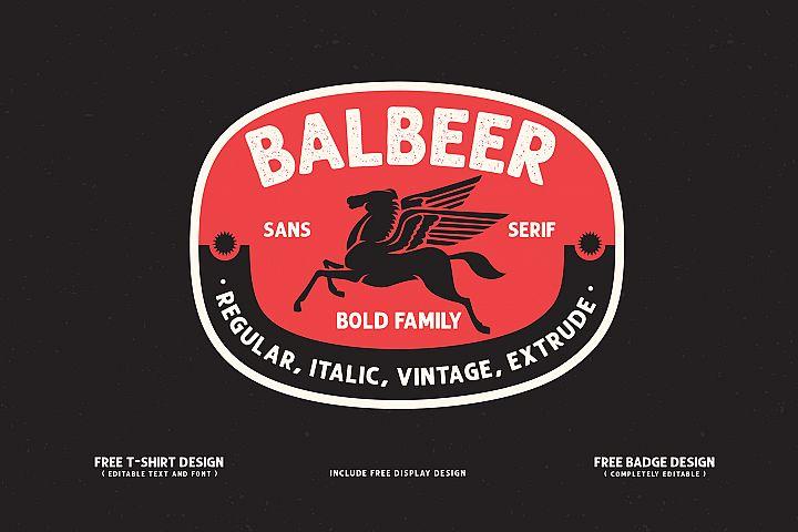 BALBEER FONT FAMILY BONUS