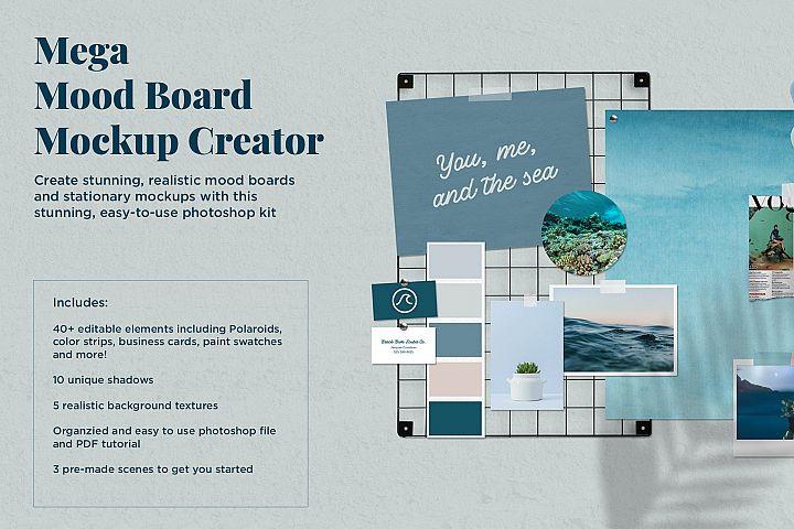 Mega Mood Board Mockup Creator
