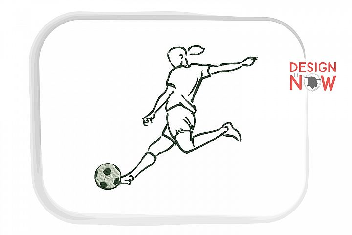 Soccer Player Embroidery Design, Sport Embroidery Pattern
