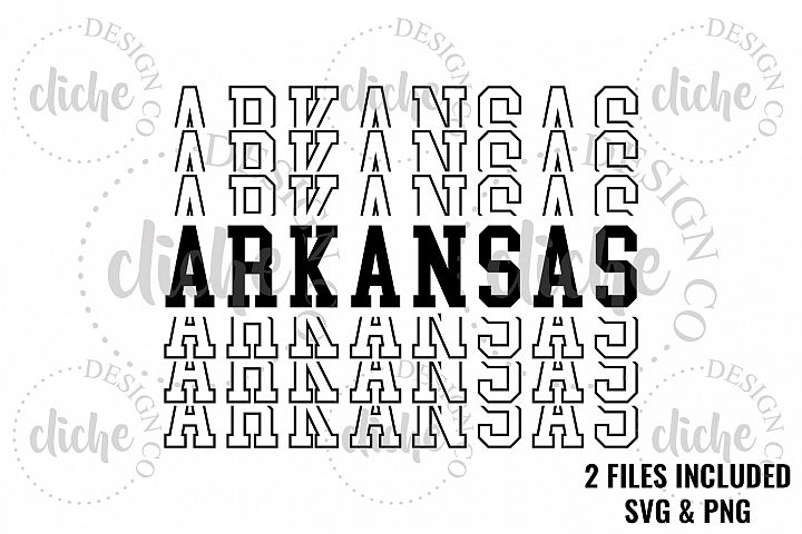 Arkansas Sublimation Design & Bonus Vector Files