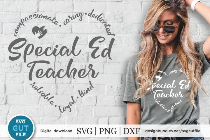 Special ed teacher svg, SPED svg, SPED teacher svg, dxf, png