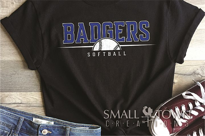 Badger, Badger Softball Team, Sport, PRINT, CUT & DESIGN