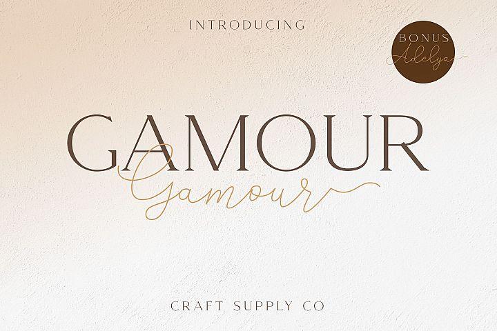 Gamour - Elegant Serif Font with Bonus