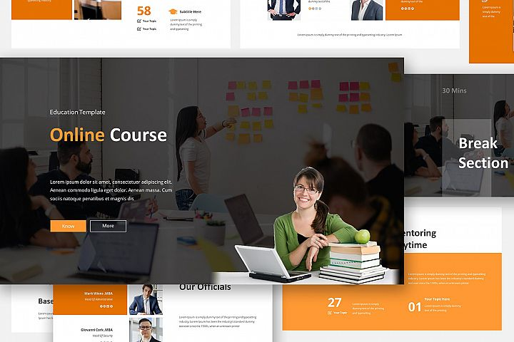 Online Course Google Slides Template