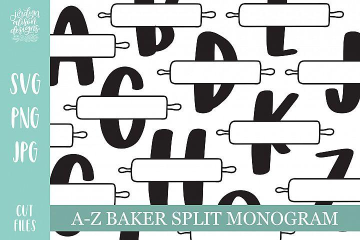 A-Z Bakers Split Monogram Bundle Set