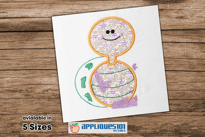 Cute Turtle Embroidery Applique Design - Turtles