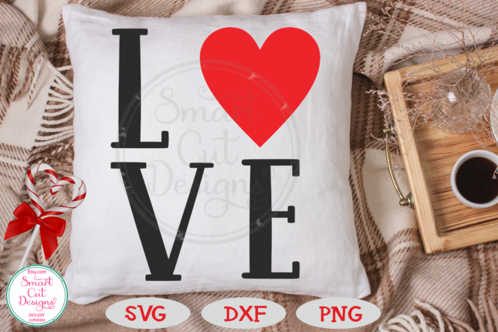 Love SVG, Heart SVG ,Valentine SVG, Love Word, Sign SVG, DXF