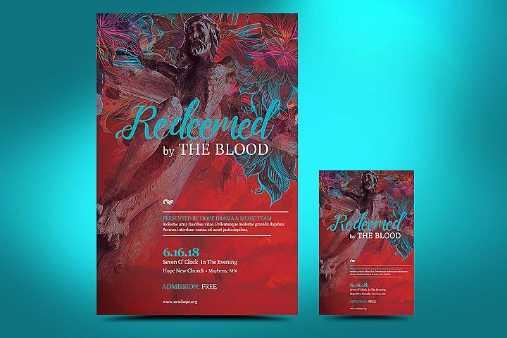 Redemption Easter Flyer Poster Template