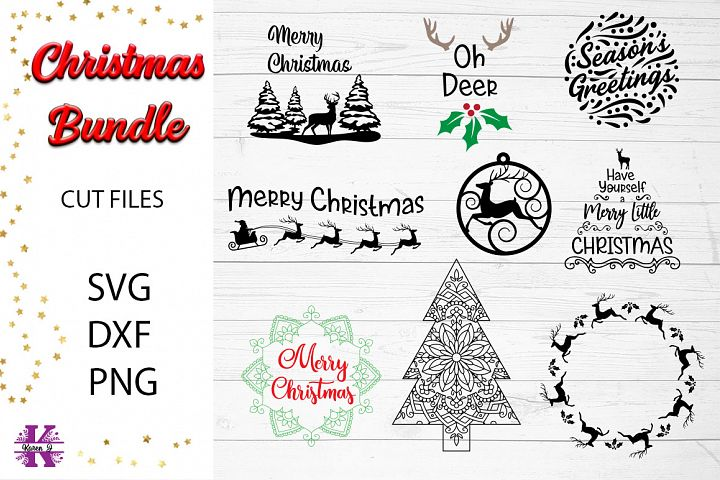 Christmas Bundle SVG Cut Files