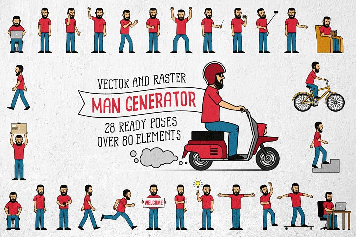 Bearded Man Generator