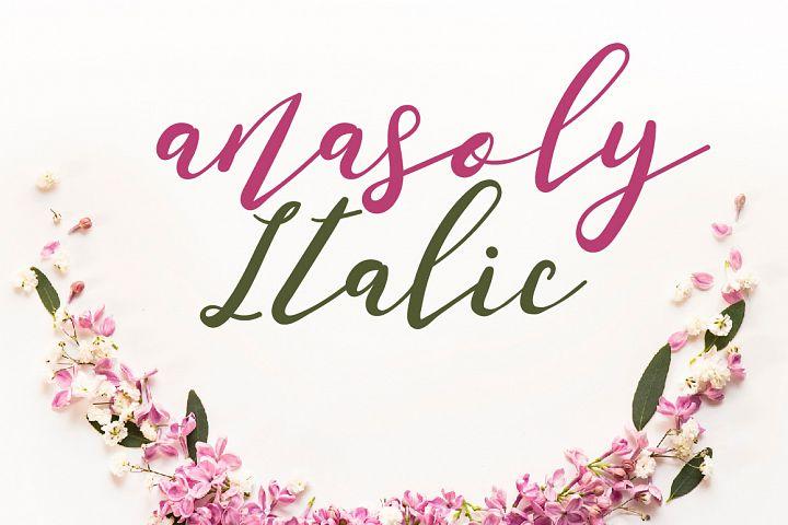 Anasoly Italic Font