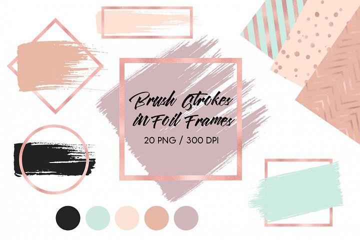 Brush Strokes & Rose Gold Frames III