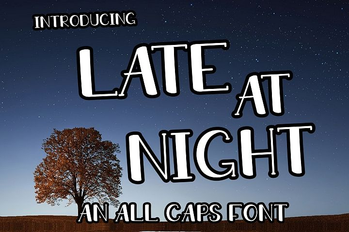 LATE AT NIGHT | An All Caps Font With Numbers