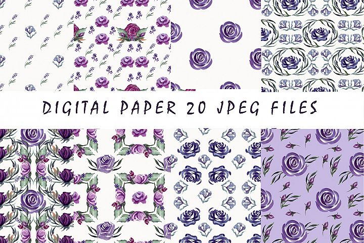 Floral seamless patterns, Digital paper