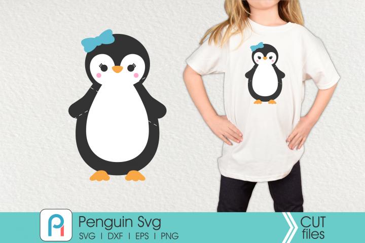 Penguin Svg, Penguin Clip Art, Penguin Cut File, Penguin Dxf