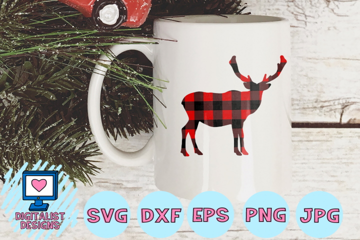 Buffalo Plaid Moose SVG