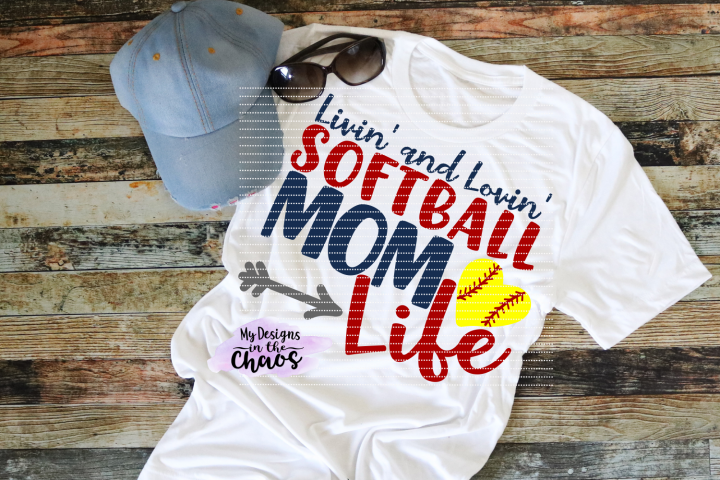 Softball Mom SVG | Softball SVG| Softball Life SVG Design | Silhouette | Cricut | PNG EPS DXF