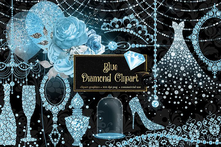 Blue Diamond Clipart