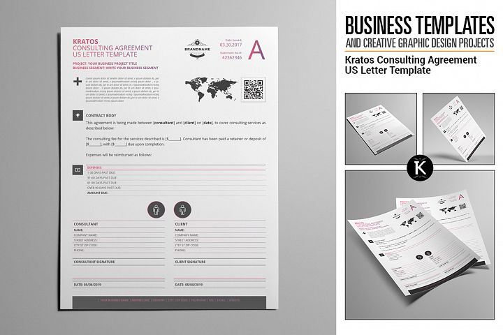 Kratos Consulting Agreement US Letter Template