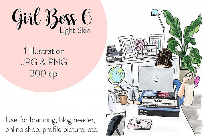 Fashion illustration - Girl boss 6 - Light Skin