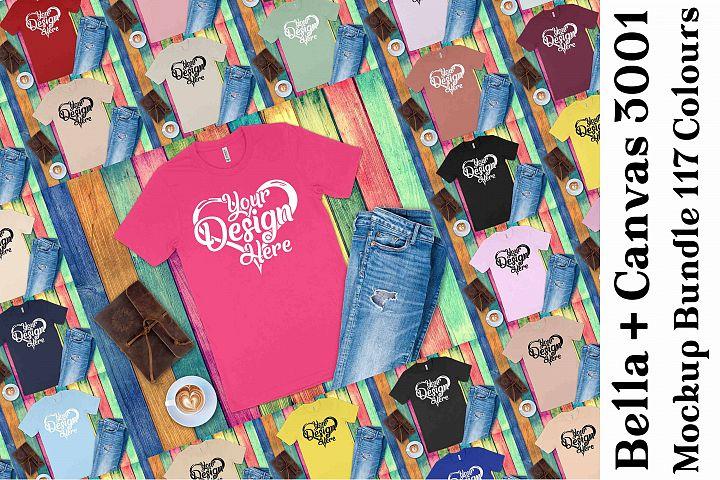 Bella Canvas 3001 Mockup Bundle T-Shirt Mock Ups 137