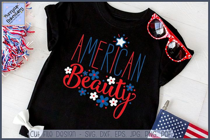 American Beauty SVG Cut File and Clipart