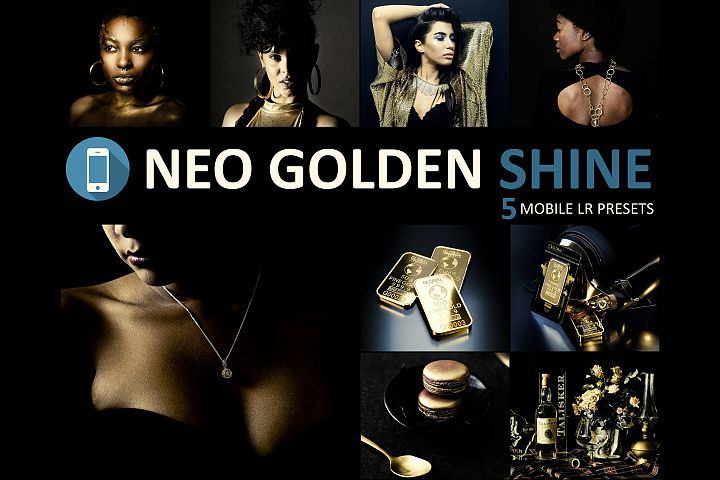 Neo Golden Shine Theme mobile lightroom presets