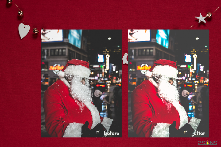 Christmas presets, winter lightroom instagram dng pc mobile example image 4