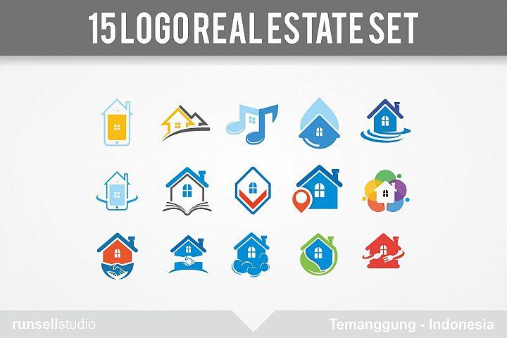 15 set Real estate logo