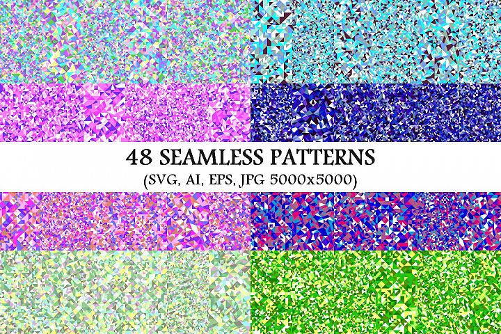 48 Seamless Triangle Patterns