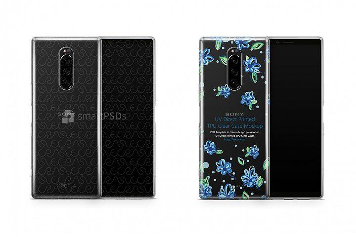 Sony Xperia 1 UV TPU Clear Case Mockup 2019
