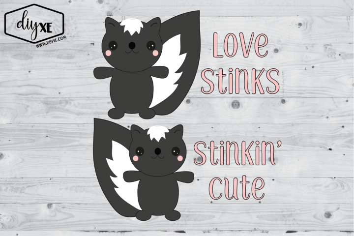 Skunk Valentines - A Valentines Sublimation Graphic